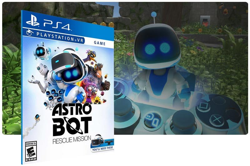 Banner do game ASTRO BOT Rescue Mission para PS4