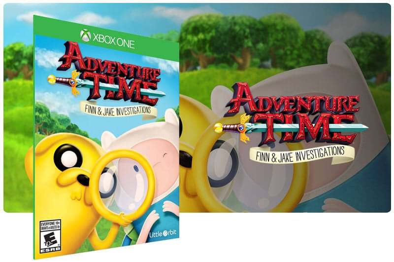 Banner do game Adventure Time: As investigacoes de Finn e Jake em mídia digital para Xbox One
