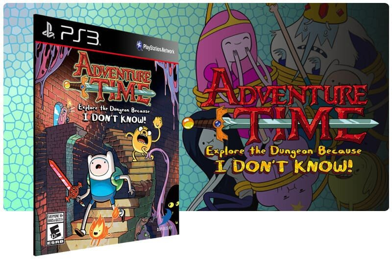 Banner do game Adventure Time Explore The Dungeon Because I Dont Know para PS3