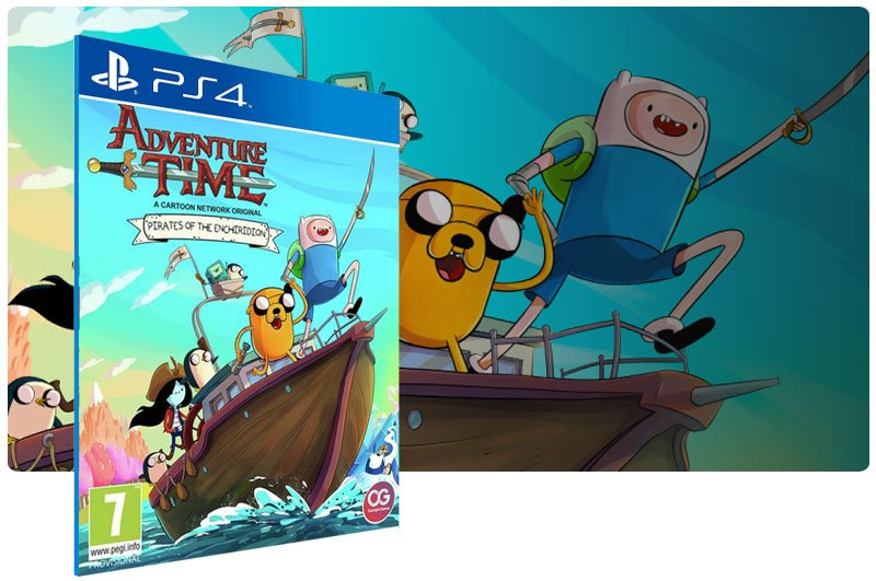 Banner do game Adventure Time Pirates of the Enchiridion para PS4