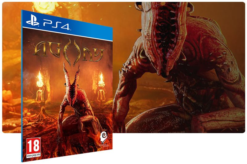 Banner do game Agony em mídia digital para PS4