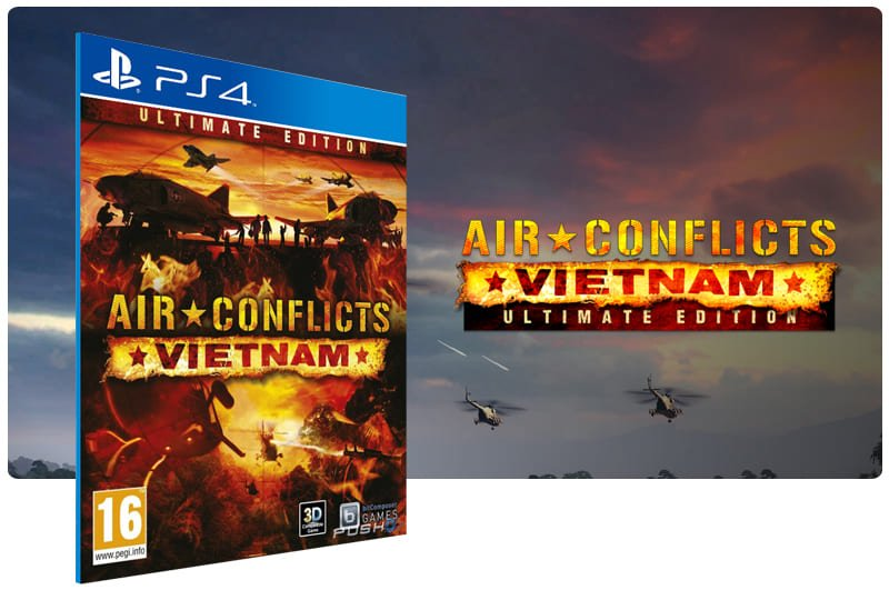 Banner do game Air Conflicts Vietnam Ultimate Edition para PS4