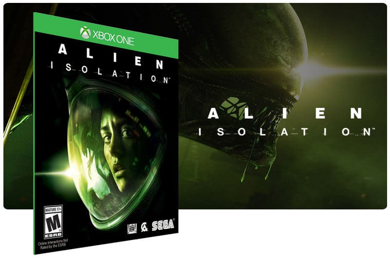 Banner do game Alien Isolation em mídia digital para Xbox One