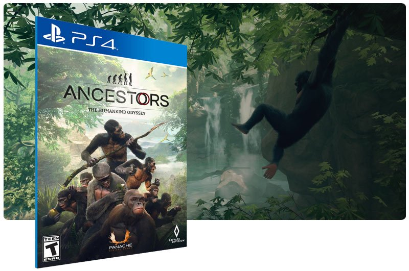 Banner do game Ancestors: The Humankind Odyssey em mídia digital para PS4