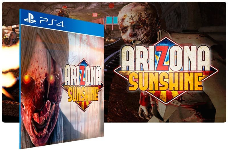 Banner do game Arizona Sunshine Launch Edition PS VR para PS4