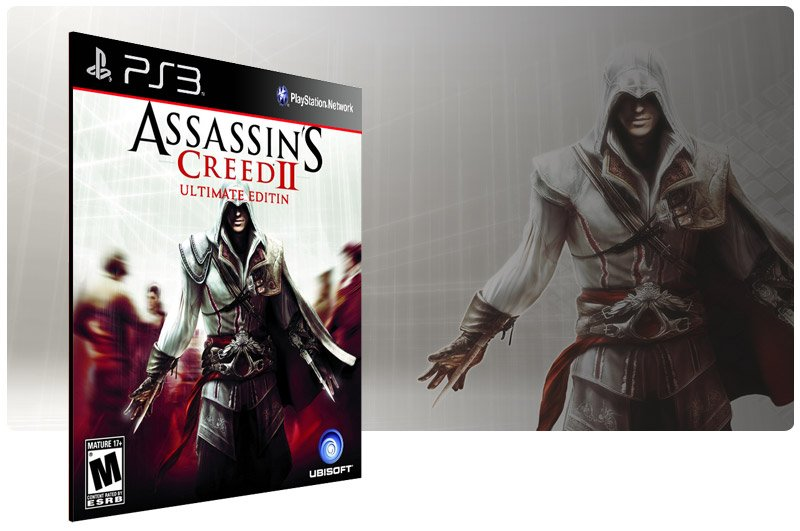 Banner do game Assassins Creed 2 Ultimate Edition para PS3