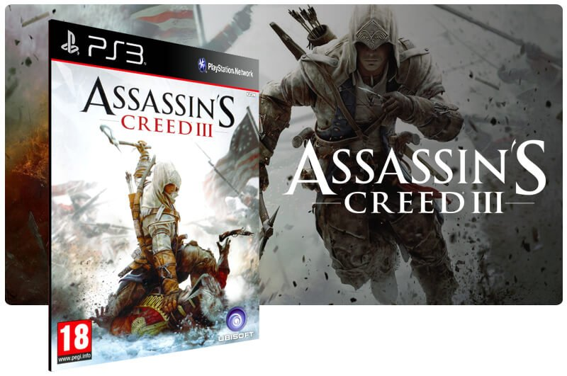 Banner do game Assassins Creed 3 para PS3
