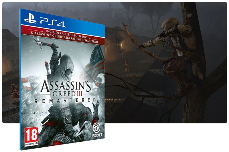 Banner do game Assassins Creed 3 Remastered para PS4