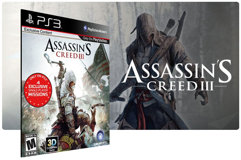 Banner do game Assassins Creed 3 Ultimate Edition para PS3