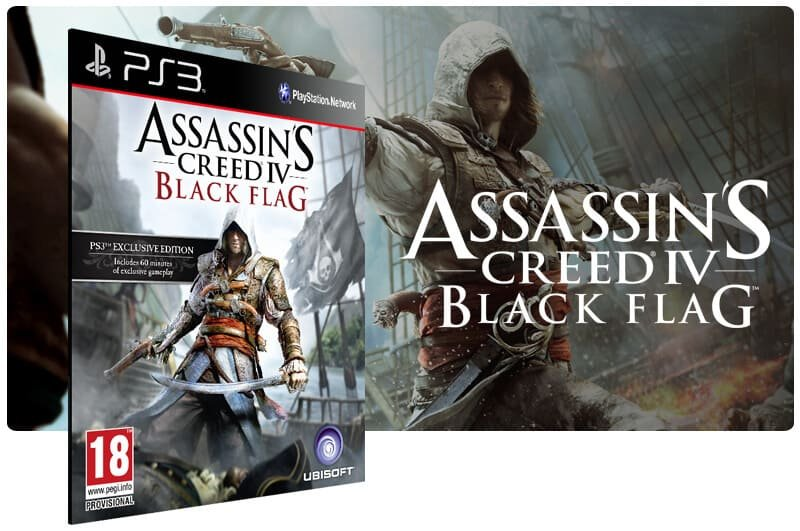 Banner do game Assassins Creed 4 Black Flag para PS3