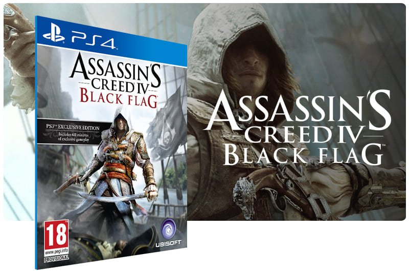 Banner do game Assassins Creed 4 Black Flag para PS4