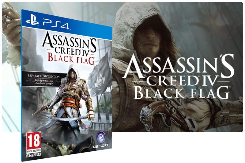 Banner do game Assassins Creed 4 Black Flag para PS4