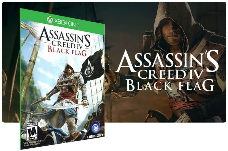 Banner do game Assassins Creed 4 Black Flag em mídia digital para Xbox One