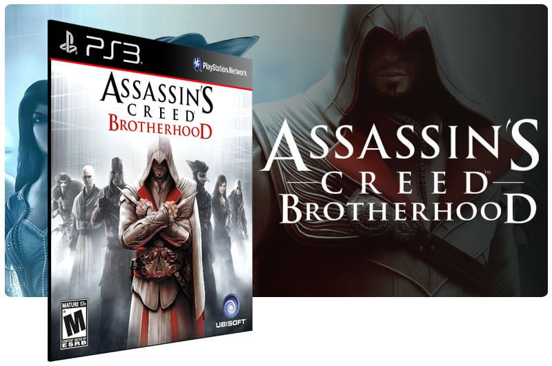 Banner do game Assassins Creed Brotherhood para PS3