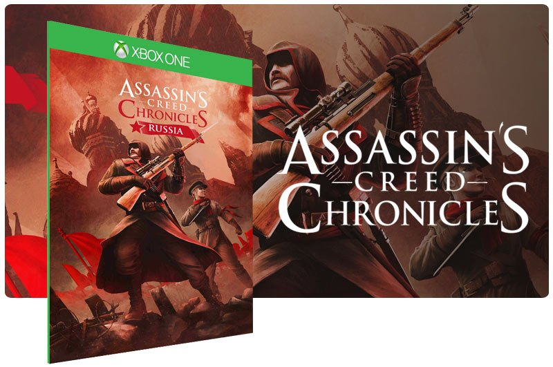 Banner do game Assassins Creed Chronicles Russia em mídia digital para Xbox One