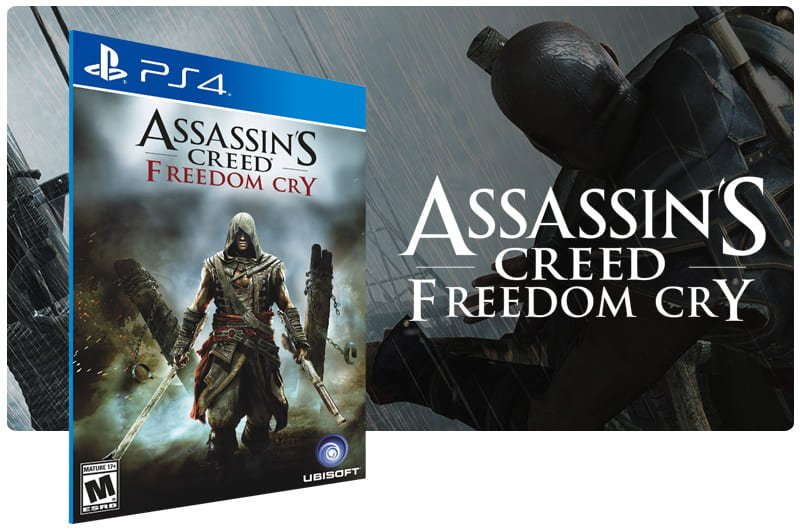 Banner do game Assassins Creed Freedom Cry para PS4