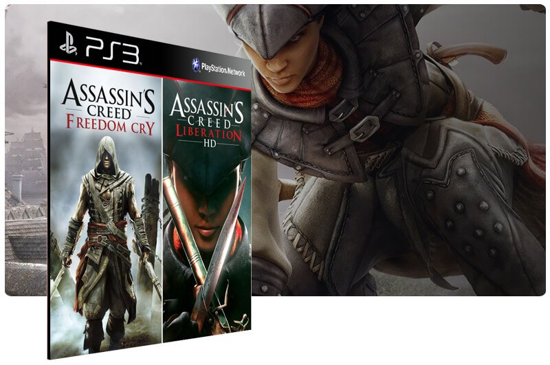 Banner do game Assassins Creed Liberations + Freedom Cry Combo para PS3