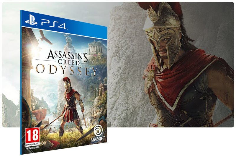 Banner do game Assassins Creed Odyssey para PS4