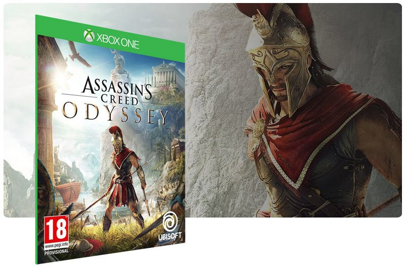 Banner do game Assassins Creed Odyssey em mídia digital para Xbox One