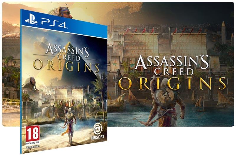 Banner do game Assassins Creed Origins para PS4