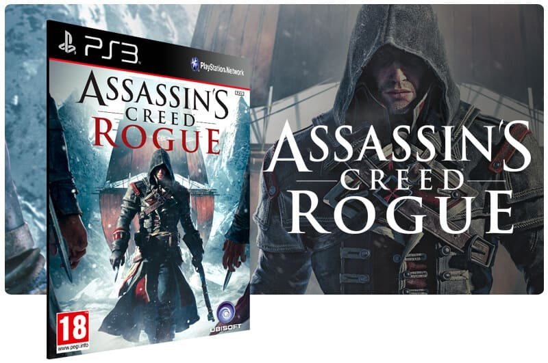 Banner do game Assassins Creed Rogue para PS3