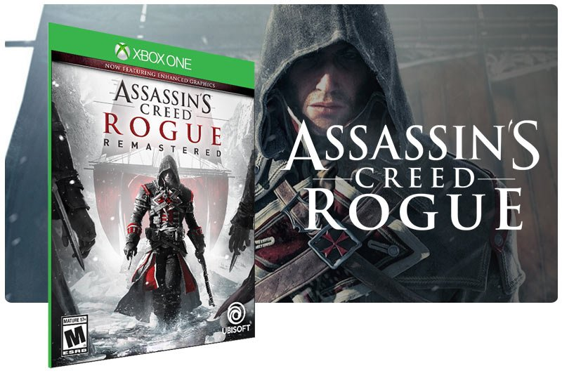 Banner do game Assassins Creed Rogue Remastered em mídia digital para Xbox One