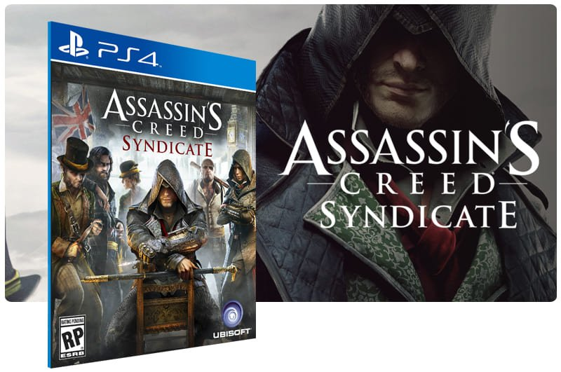 Banner do game Assassins Creed Syndicate para PS4