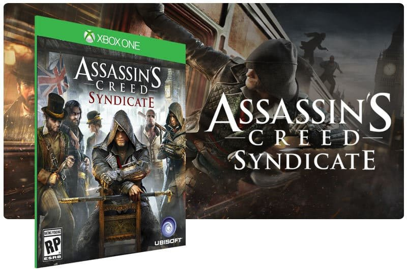 Banner do game Assassins Creed Syndicate em mídia digital para Xbox One