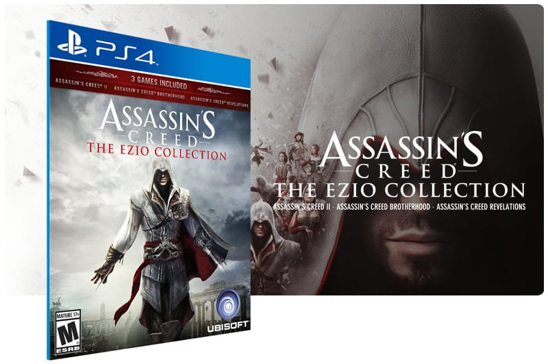 Banner do game Assassins Creed The Ezio Collection para PS4