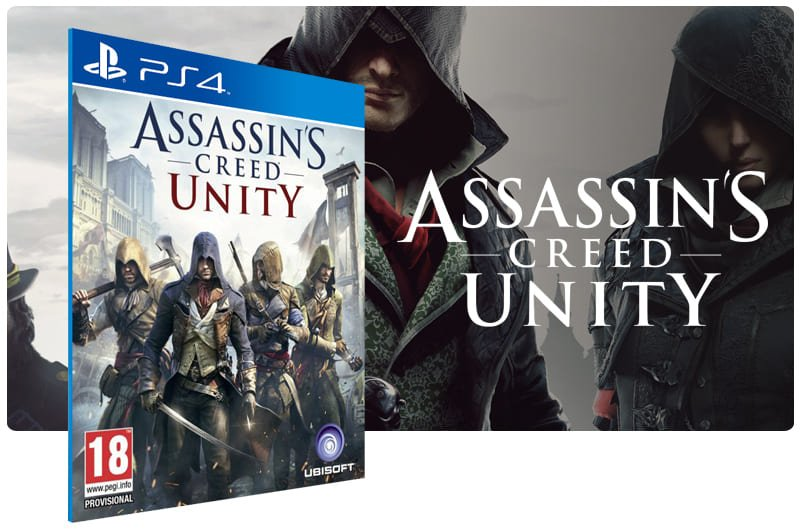 Banner do game Assassins Creed Unity para PS4