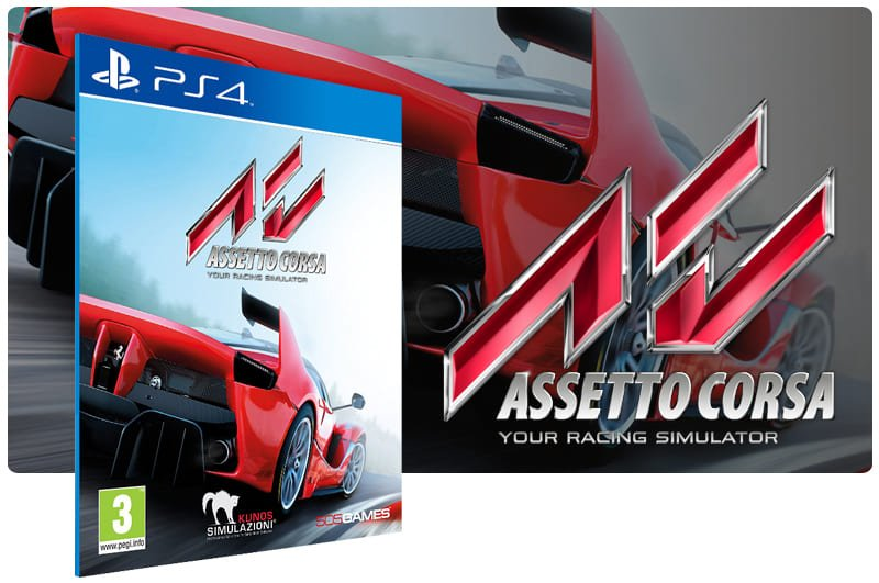 Banner do game Assetto Corsa para PS4