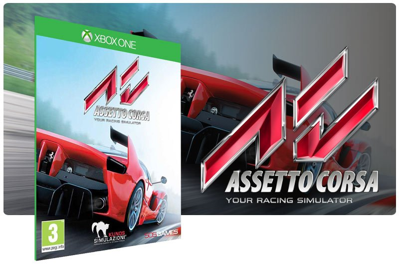 Banner do game Assetto Corsa em mídia digital para Xbox One