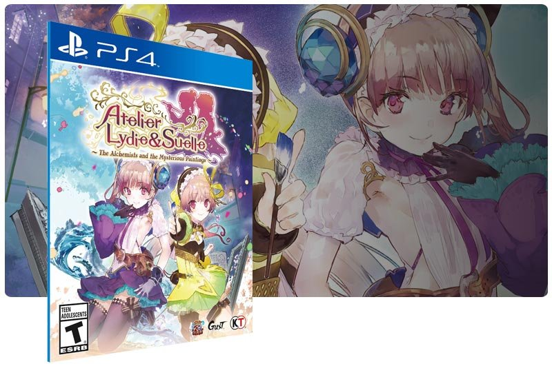 Banner do game Atelier Lydie & Suelle em mídia digital para PS4