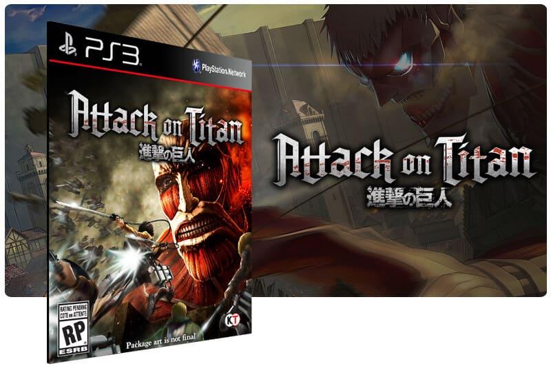 Banner do game Attack on Titan para PS3