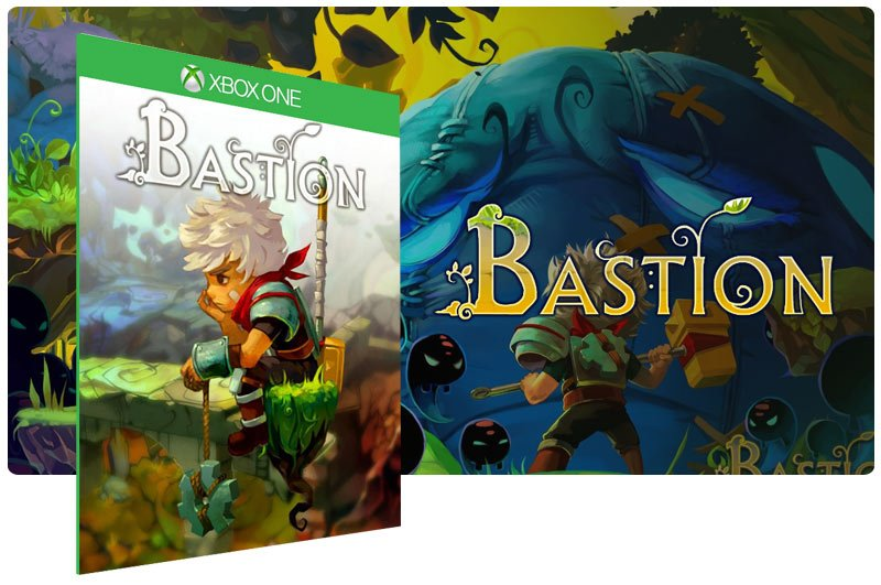 Banner do game Bastion em mídia digital para Xbox One