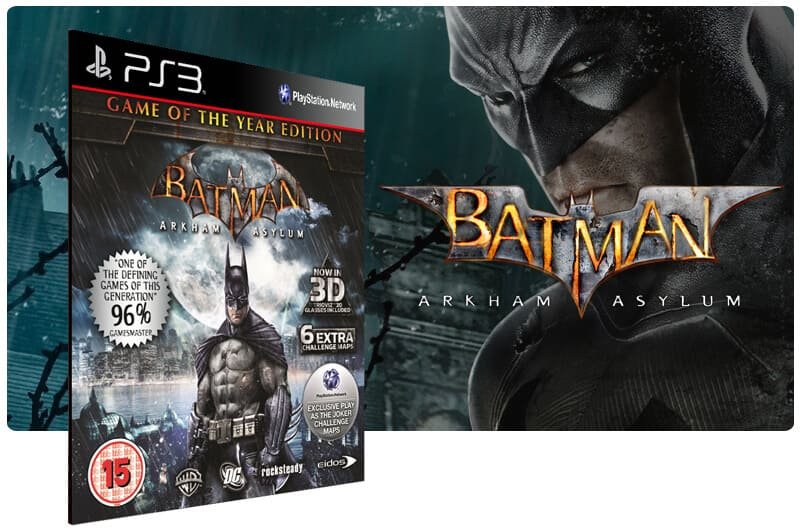 Banner do game Batman Arkham Asylum para PS3