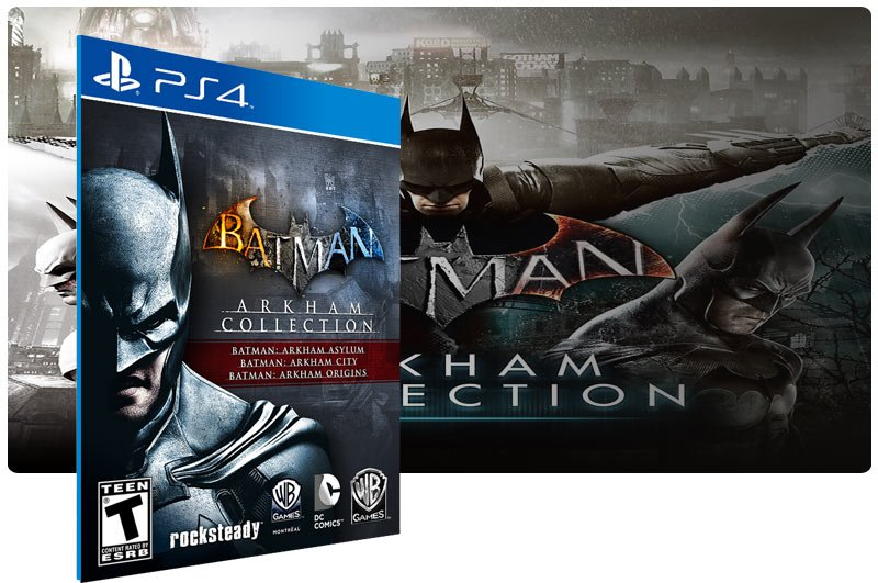 Banner do game Batman: Arkham Collection em mídia digital para PS4