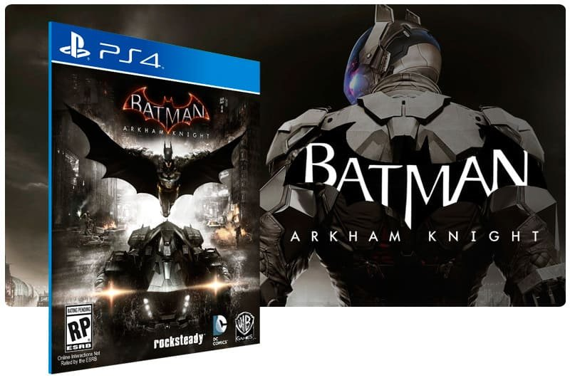 Banner do game Batman Arkham Knight para PS4