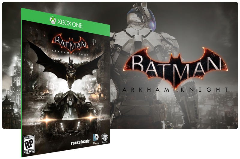 Banner do game Batman: Arkham Knight em mídia digital para Xbox One