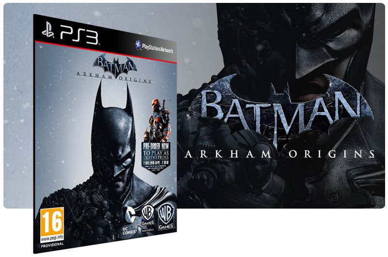 Banner do game Batman Arkham Origins para PS3