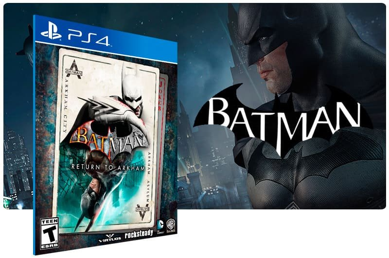Banner do game Batman: Return To Arkham para PS4