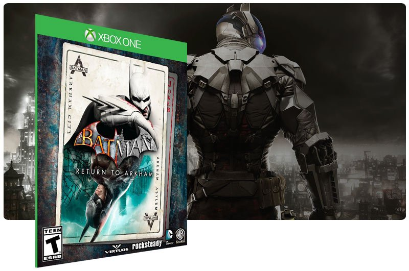 Banner do game Batman: Return to Arkham em mídia digital para Xbox One