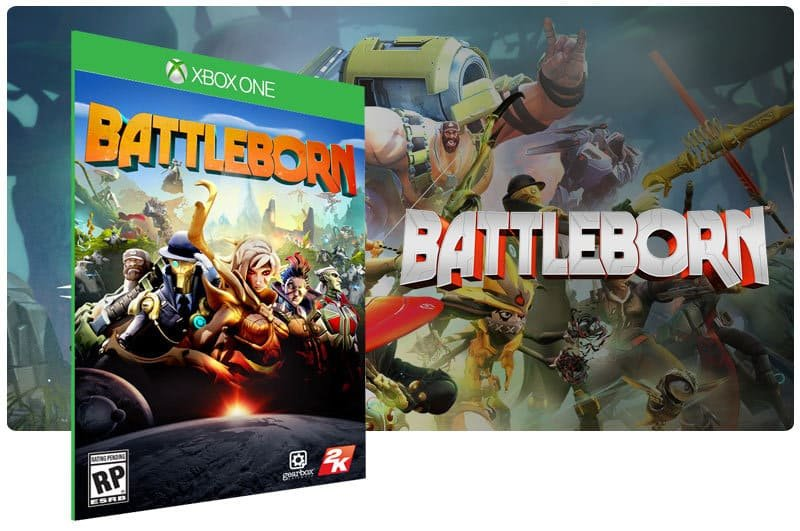 Banner do game Battleborn em mídia digital para Xbox One