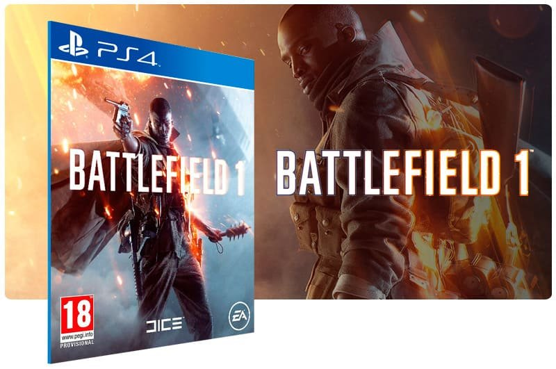 Banner do game Battlefield 1 para PS4