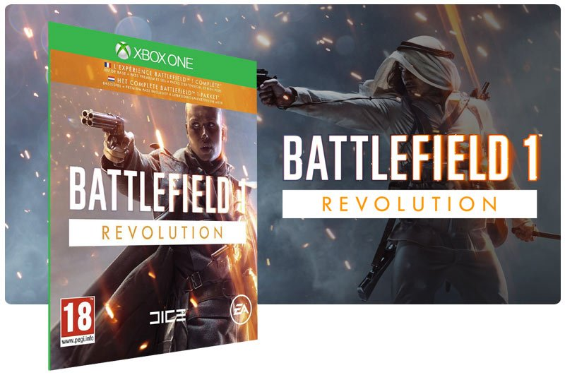Banner do game Battlefield 1 Revolution em mídia digital para Xbox One