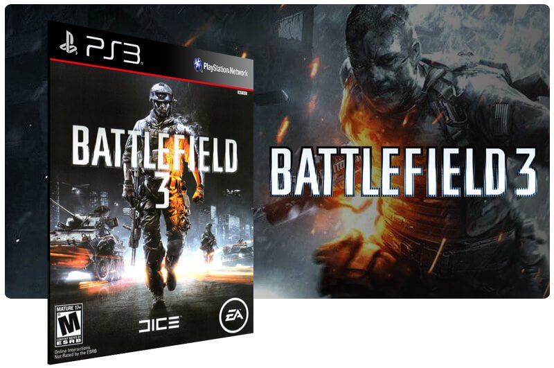 Banner do game Battlefield 3 para PS3