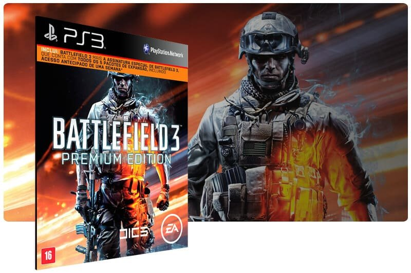 Banner do game Battlefield 3 Premium Edition para PS3