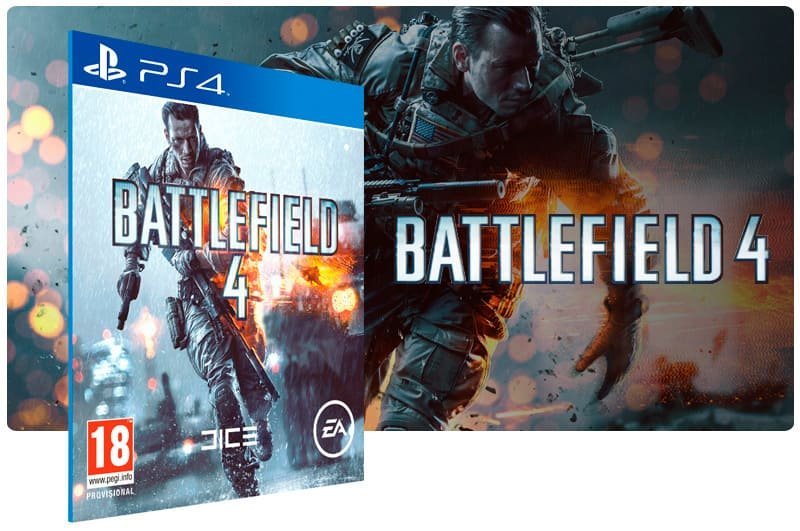 Banner do game Battlefield 4 para PS4