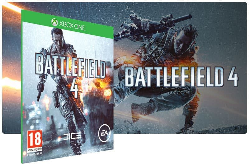 Banner do game Battlefield 4 em mídia digital para Xbox One