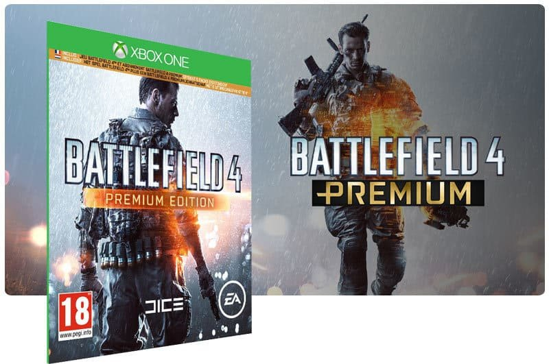 Banner do game Battlefield 4 Premium Edition em mídia digital para Xbox One